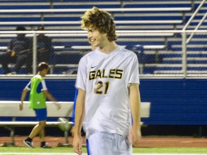 Lancaster junior Phillip Slater leads the Golden Gales in scoring, but he has also had a ton of success as a kicker for Lancaster's football team.