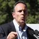 Gov. Matt Bevin held a press conference outside the Governor's Mansion in Frankfort.