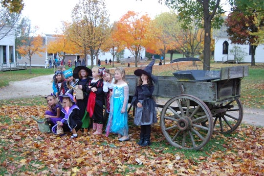 Kids dressed up for Halloween at All Hallow's Eve at Pinecrest Historical Village in Manitowoc.