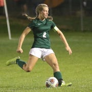 Madison's Kalie Blaising scored a goal in the Lady Rams' 10-0 sectional championship win over Galion.