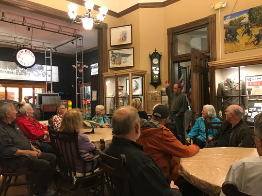 Scott Schaut, curator of the Mansfield Memorial Museum at 34 Park Avenue West, entertained the Northeast Ohio Chapter of the Society for Industrial Archaeology Friday, discussing the city's rich industrial history.