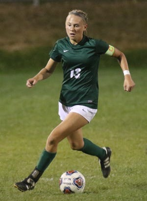 MAdison's Taylor Huff was named the Ohio Cardinal Conference Offensive Player of the Year for the third consecutive season.