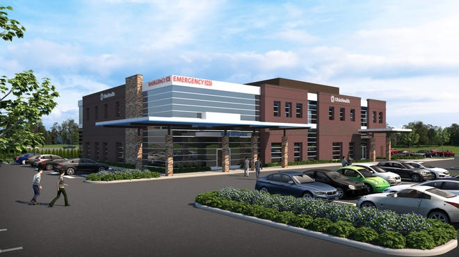 The two-story health center will feature an emergency department and outpatient blood draw lab on the first floor, and provider practices and outpatient physical therapy on the second floor.