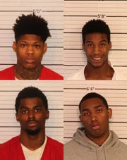 Bottom Row:  Mardavis Thomas, Djuantay Jacocks Top Row: Jaylon Causey, Jason Poole