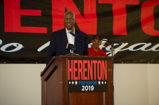 Willie Herenton conceeds the mayoral election at his campaign headquarters in south Memphis on Thursday, Oct. 3, 2019.