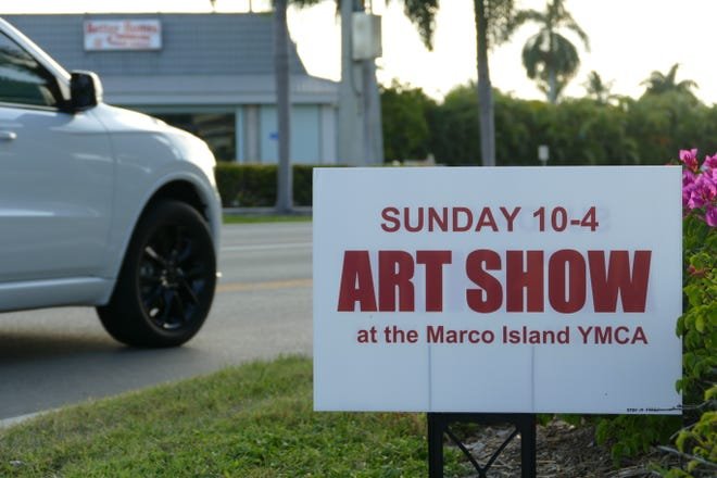 A temporary sign announcing an art show was located at the intersection of San Marco Rd. and N. Barfield Dr. in Marco Island on Oct. 3.