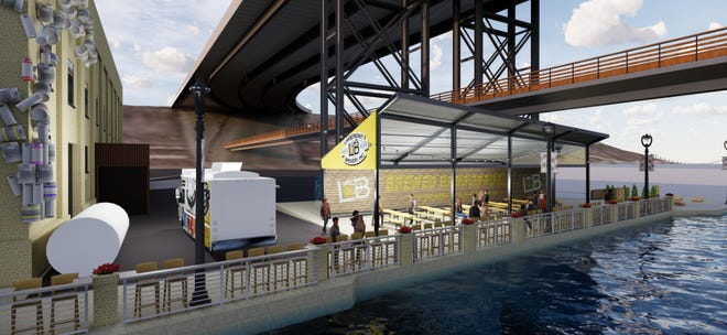 Lakefront Brewery Inc. wants to replace a tent with a permanent open-air shelter on the RiverWalk.