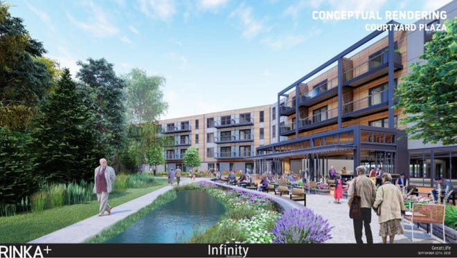 A developer with a long history of building senior living communities and healthcare facilities is proposing an upscale, 192-unit complex for seniors in Greenfield. Its potential amenities include a concierge, fitness center, hair salon, spa, theatre room, chapel, library, dining rooms, a bocce ball area, wooded walking trails and shuttle services to local activities, according to city documents.