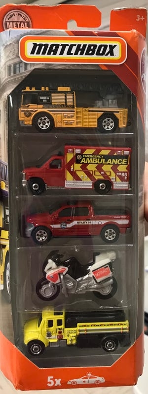 Mattel has donated 10 Matchbox Emergency vehicles to be given away at the upcoming Gassville Volunteer Fire Department's Open House. Each child attending the Open House will be given a ticket and the winners will be drawn during the event.