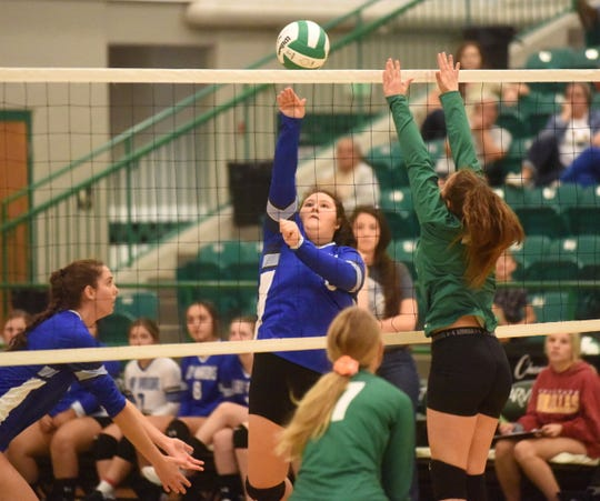 Cotter's Hailey Saunders hits during recent action against Yellville-Summit.