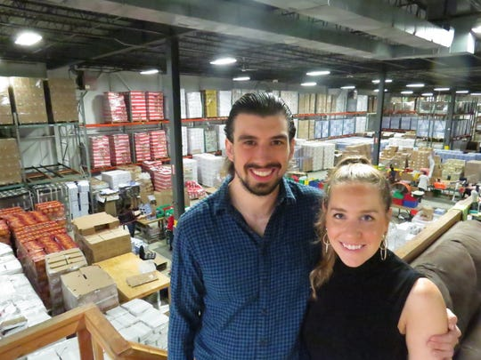 Eli Zauner, 26, and Monique Bernstein, 30, launched the Universal Yums subscription-box snack service in 2014. Five years later, they are shipping 80,000 boxes of internationally-themed snacks every month, and are poised to double their current warehouse space of 21,000 square feet in Parsippany.