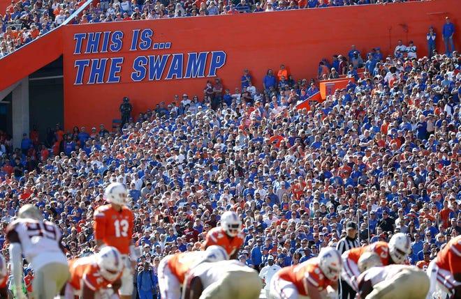A general view of  Ben Hill Griffin Stadium in Gainesville, Florida.