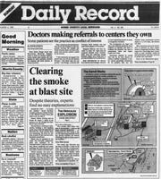 Daily Record's reporting of Hercules Explosion in 1989.