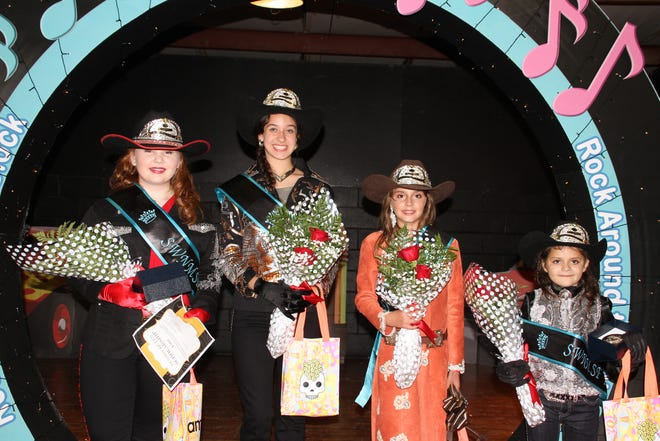Your 2019-20 Southwestern New Mexico State Fair Royalty are, from left, Queen Calleigh Sweetser, Princess Trinity Ruebush, Junior Princess Kendahl Bingham and Pee Wee Princess Akemi Smith.