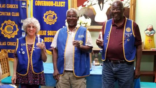The Las Cruces Civitan Club of Civitan International new officers are Dr. Robert Hempfill, President; Charlie Rollack, President Elect and Rose Tidwell, Secretary/Treasurer.