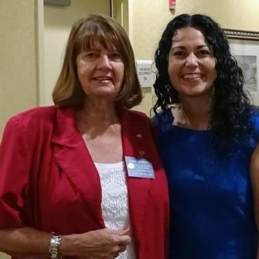 U.S. Representative Xochitl Torres Small and Judy Rosco (NARFE Chapter 182 VP for Legislation).