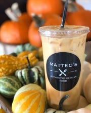 Matteo's Authentic Mexican Food's pumpkin pie horchata.
