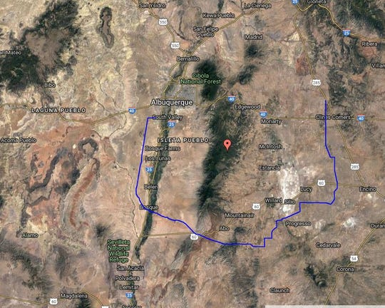 The path of the Western Spirit transmission line for wind energy