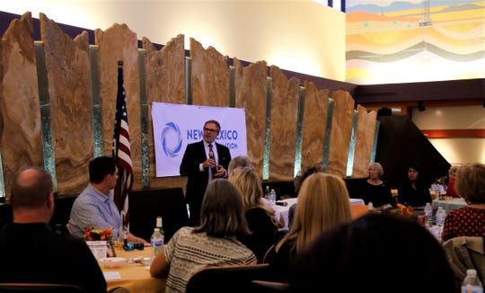 U.S. Department of Energy Deputy General Counsel of Energy Policy Mark Robeck speaks Oct. 3 during a New Mexico Business Coalition event in Farmington.