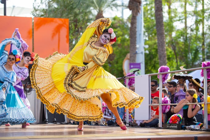 The Mesa Arts Center's Dia de Los Muertos festival will have ballet folklorico and mariachi performances.