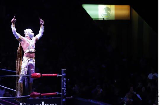 Místico, estrella del Consejo Mundial de Lucha Libre.