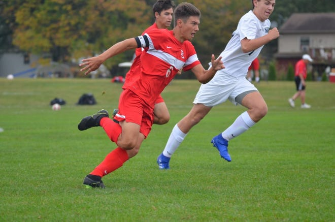 While Mac Plummer may have opportunities as a kicker in collegiate football, he's also tearing up the pitch as a soccer player for Annville-Cleona, too.