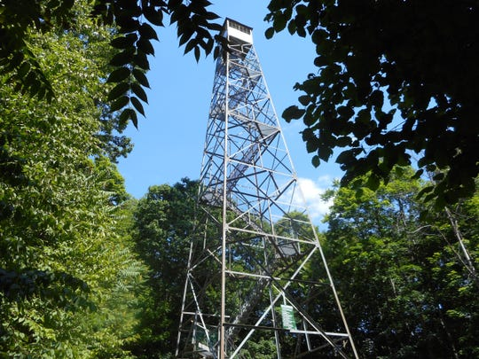 Ferncliff Forest in Rhinebeck features a fire tower that offers spectacular views of the valley from atop its 80-foot tower.