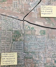 Newlands Drive and Cottonwood Lane were among the roads Fernley residents have concerns over.