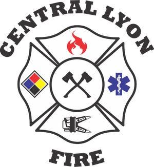 Central Lyon County Fire logo