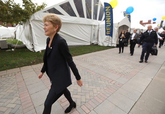 University of Rochester President Sarah Mangelsdorf attended a free lunch open to the university community before heading to another event.  Mangelsdorf is the first woman president at the university and the 11th president.  She will be inaugurated Friday afternoon at Kodak Hall.