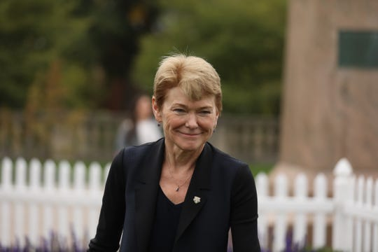 University of Rochester president Sarah Mangelsdorf prior to her inauguration on Friday Oct. 4