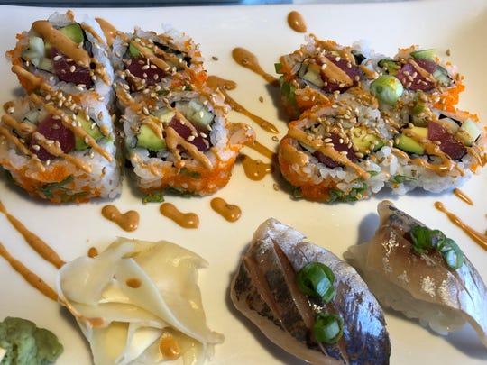 "Example of the ""edible art"" at Kampai Sushi."