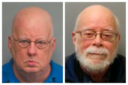 This combination of 2019 and 2017 photos made available by the Missouri State Highway Patrol shows James Alan Funke, left, and Jerome Bernard Robben.