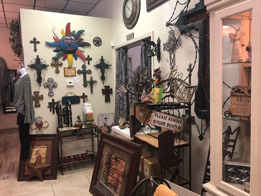 Creative Designs has a section of Western decor for sale.
