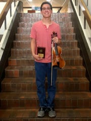 Jonathan Deanda, All-State Scholarship Winner of Senior Class Violin Concerto and Performing on a State Honors Recital.