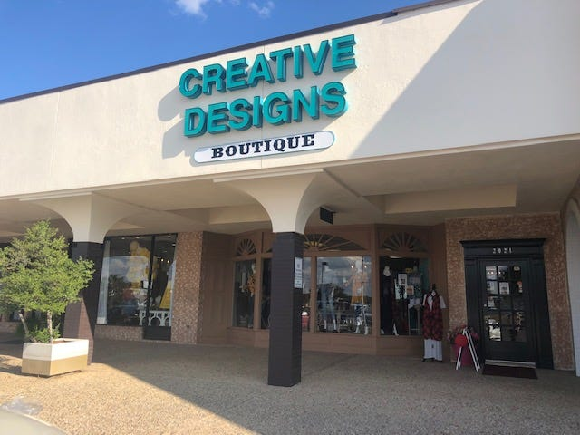 Creative Designs Boutique is located at 2021 Knickerbocker Rd.