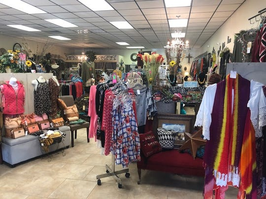 Creative Designs carries women's clothing available from small to plus sizes.