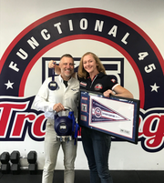 From left to right Staunton F45 fitness studio co-owner Bill Campbell and co-owner and head trainer Sonya Parlier.