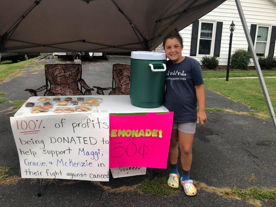 9-year-old softball player Gracie Knicley has been fundraising  to support three Churchville girls during their cancer treatments.