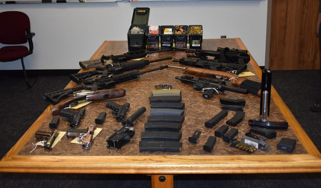 Various weapons seized during a search warrant served by Thousand Oaks Deputies on Sept. 27.