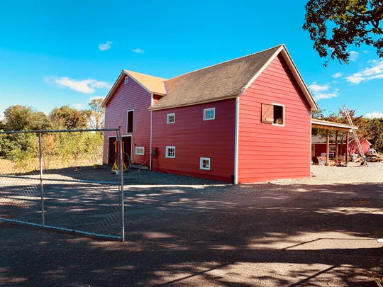 The barn at Cropsey Farm is in the process of being preserved. The site allows the historical use - farming - to continue, and saves acres of open space for the neighborhood.