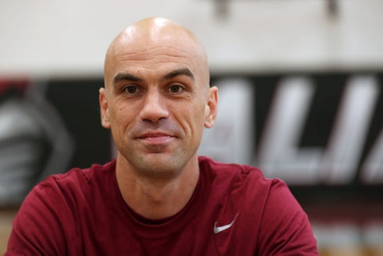 Chris Alesi is the new men's basketball coach at Manhattanville College in Purchase Oct. 3, 2019.