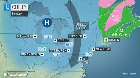 Friday night is expected to be chilly in the Lower Hudson Valley.