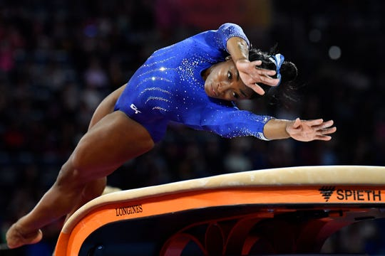 'Thank' the idiotic egalitarians at the International Gymnastics Federation: Simone Biles penalized for having skills other gymnasts can't pull off 07ab48d3-388d-47ee-9f9c-5ceb708c7490-AFP_AFP_1KX9HI