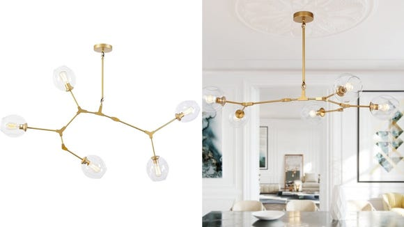 Spice up your lighting with this unique chandelier.