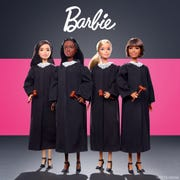 The Barbie Career of the Year doll is a judge to inspire more girls to explore judicial careers.