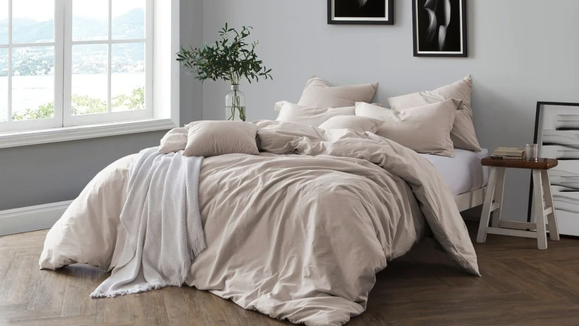 This simple duvet is both soft and stylish.