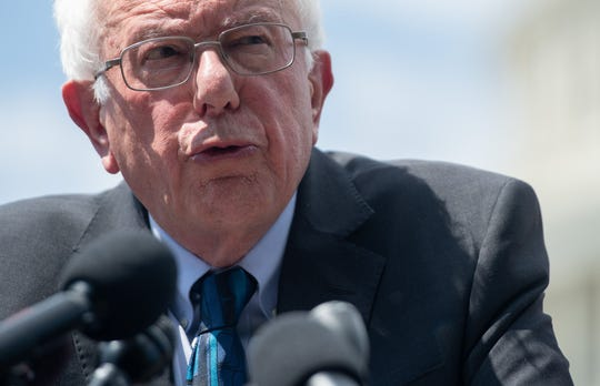 U.S. Sen. Bernie Sanders, Independent of Vermont, speaks during a press conference to introduce college affordability legislation outside the U.S. Capitol in Washington, D.C. in June.