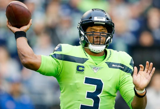 Russell Wilson has thrown for 12 TDs with no interceptions through five games this season.