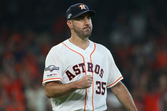 Verlander pitched seven shutout innings in Game 1.